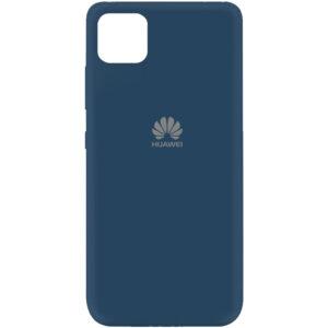 Оригинальный чехол Silicone Cover 360 (A) с микрофиброй для Huawei Y5P – Синий / Navy blue
