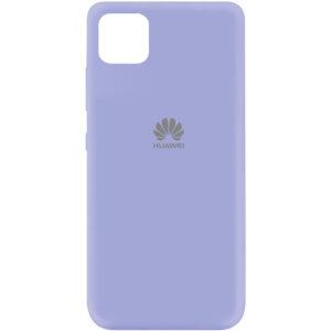 Оригинальный чехол Silicone Cover 360 (A) с микрофиброй для Huawei Y5P – Сиреневый / Dasheen