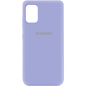 Оригинальный чехол Silicone Cover 360 (A) с микрофиброй для Samsung Galaxy A41 – Сиреневый / Dasheen