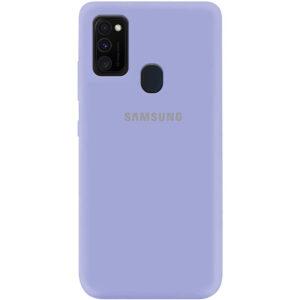 Оригинальный чехол Silicone Cover 360 (A) с микрофиброй для Samsung Galaxy M30s / M21 – Сиреневый / Dasheen
