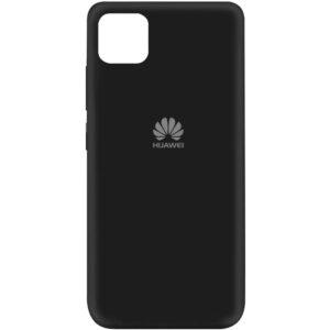 Оригинальный чехол Silicone Cover 360 (A) с микрофиброй для Huawei Y5P – Черный / Black