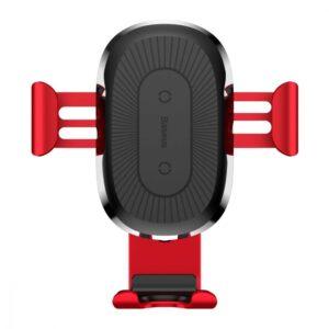 Автомобильный держатель Wireless Charger Baseus Gravity Car Mount (Air Outlet Version) 1.67A 10W – Red
