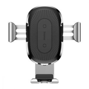 Автомобильный держатель Wireless Charger Baseus Gravity Car Mount (Air Outlet Version) 1.67A 10W – Silver
