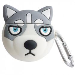 Чехол для наушников 3D Husky + карабин для Apple Airpods – Gray