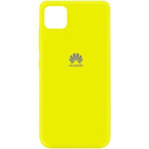 Оригинальный чехол Silicone Cover 360 (A) с микрофиброй для Huawei Y5P – Желтый / Flash