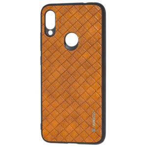Кожаный чехол VORSON Braided leather для Xiaomi Redmi Note 7 / 7 Pro – Коричневый