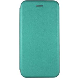 Кожаный чехол-книжка 360 с визитницей для Huawei Y6P – Зеленый