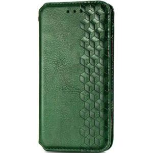 Кожаный чехол-книжка GETMAN Cubic для Samsung Galaxy A32 5G – Зеленый