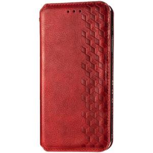 Кожаный чехол-книжка GETMAN Cubic для Huawei P Smart 2021 / Y7a – Красный