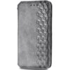 Кожаный чехол-книжка GETMAN Cubic для Samsung Galaxy A12 / M12 – Серый