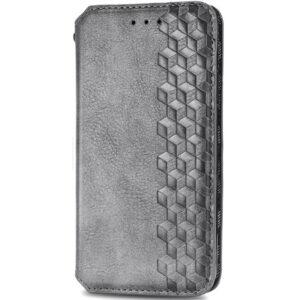 Кожаный чехол-книжка GETMAN Cubic для Samsung Galaxy A32 5G – Серый