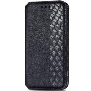 Кожаный чехол-книжка GETMAN Cubic для Xiaomi Redmi Note 9s / Note 9 Pro – Черный