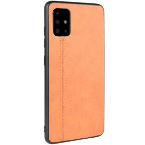 Кожаный чехол Line для Samsung Galaxy A51 – Коричневый