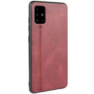 Кожаный чехол Line для Samsung Galaxy A51 – Красный