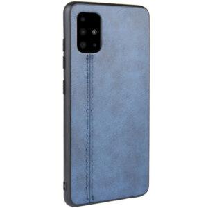 Кожаный чехол Line для Samsung Galaxy A51 – Синий