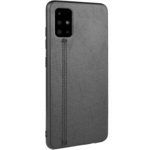 Кожаный чехол Line для Samsung Galaxy A51 – Черный