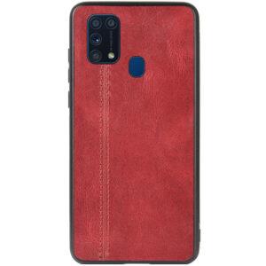Кожаный чехол Line для Samsung Galaxy M31 – Красный