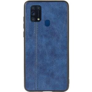 Кожаный чехол Line для Samsung Galaxy M31 – Синий