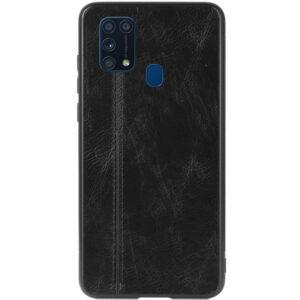 Кожаный чехол Line для Samsung Galaxy M31 – Черный