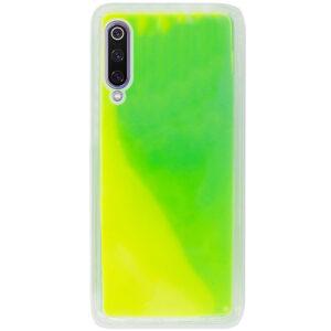 Неоновый чехол Neon Sand светящийся в темноте для Xiaomi Mi 9 – Зеленый