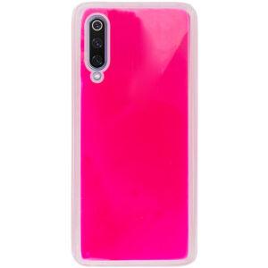 Неоновый чехол Neon Sand светящийся в темноте для Xiaomi Mi 9 – Розовый