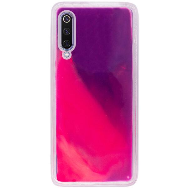 Неоновый чехол Neon Sand светящийся в темноте для Xiaomi Mi 9 – Фиолетовый / Розовый