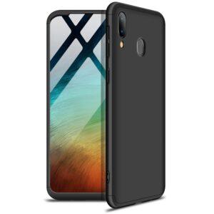 Матовый пластиковый чехол GKK 360 градусов для Samsung Galaxy A20s 2019 (A207) – Черный