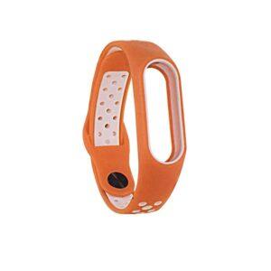 Ремешок для фитнес-браслета Xiaomi Mi Band 2 Sport – Orange / White