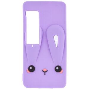 Силиконовый чехол 3D Child Bunny для Meizu Pro 7 – Фиолетовый