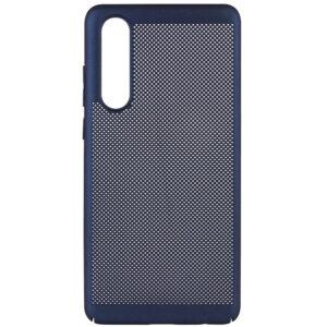 Ультратонкий дышащий чехол Grid case для Huawei P30 – Темно-синий