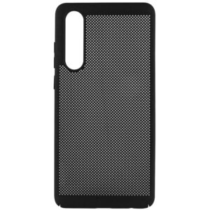 Ультратонкий дышащий чехол Grid case для Huawei P30 – Черный
