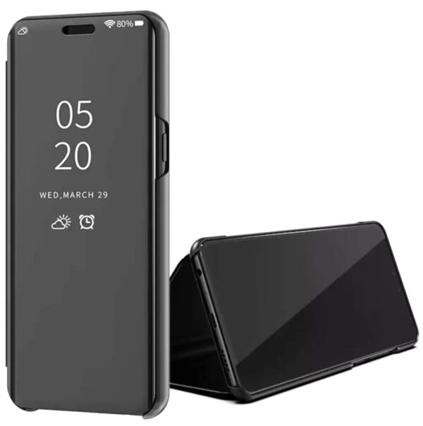 Чехол-книжка Clear View Standing Cover для Xiaomi Mi Note 10 Lite — Черный