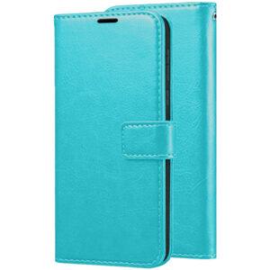 Кожаный чехол-книжка Wallet Glossy с визитницей для Samsung Galaxy A40 2019 (A405) – Бирюзовый