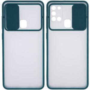 Чехол Camshield mate TPU со шторкой для камеры для Samsung Galaxy A21s – Зеленый