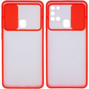 Чехол Camshield mate TPU со шторкой для камеры для Samsung Galaxy A21s – Красный