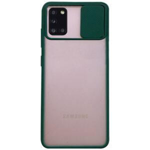 Чехол Camshield mate TPU со шторкой для камеры для Samsung Galaxy A31 – Зеленый