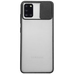 Чехол Camshield mate TPU со шторкой для камеры для Samsung Galaxy A31 – Черный
