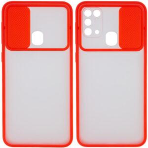 Чехол Camshield mate TPU со шторкой для камеры для Samsung Galaxy M31 – Красный