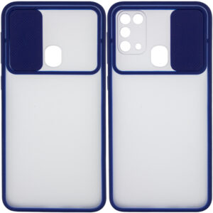 Чехол Camshield mate TPU со шторкой для камеры для Samsung Galaxy M31 – Синий