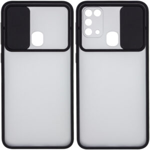 Чехол Camshield mate TPU со шторкой для камеры для Samsung Galaxy M31 – Черный