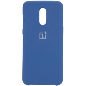 Оригинальный чехол Silicone Case с микрофиброй для OnePlus 7 – Синий / Navy Blue