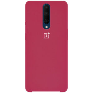 Оригинальный чехол Silicone Case с микрофиброй для OnePlus 7 Pro – Красный / Rose Red