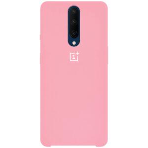 Оригинальный чехол Silicone Case с микрофиброй для OnePlus 7 Pro – Розовый / Pink