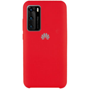 Оригинальный чехол Silicone Case с микрофиброй для Huawei P40 – Красный / Red