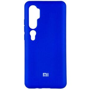 Оригинальный чехол Silicone Cover 360 (A) с микрофиброй для Xiaomi Mi Note 10 / 10 Pro – Синий / Navy
