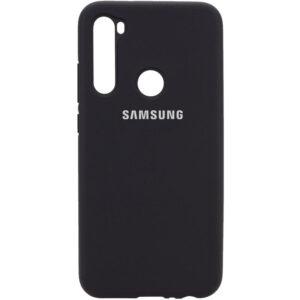 Оригинальный чехол Silicone Cover 360 с микрофиброй для Samsung Galaxy A21 – Черный / Black