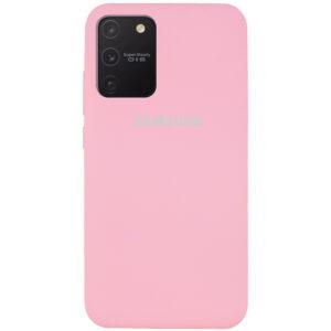 Оригинальный чехол Silicone Cover 360 с микрофиброй для Samsung Galaxy S10 lite (G770F) – Розовый / Light pink