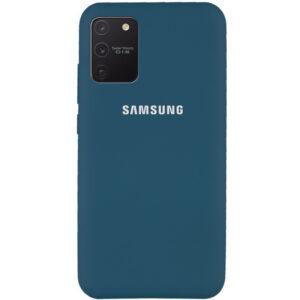 Оригинальный чехол Silicone Cover 360 с микрофиброй для Samsung Galaxy S10 lite (G770F) – Синий / Cosmos blue