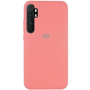 Оригинальный чехол Silicone Cover 360 с микрофиброй для Xiaomi Mi Note 10 Lite – Розовый / Peach