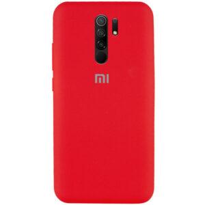 Оригинальный чехол Silicone Cover 360 с микрофиброй для Xiaomi Redmi 9 – Красный / Red